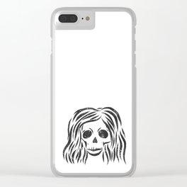 *Wild* - digital disstressed illustration Clear iPhone Case