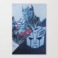 optimus prime Canvas Prints featuring Optimus Prime  by JH Art