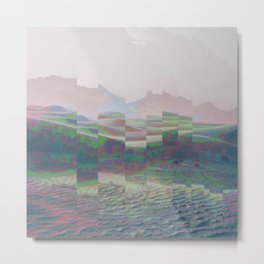 Desert Distortion Metal Print