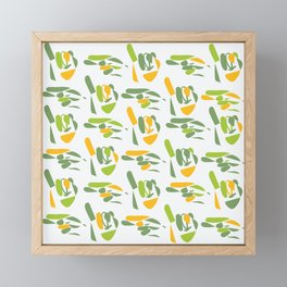 sign language (hi) Framed Mini Art Print