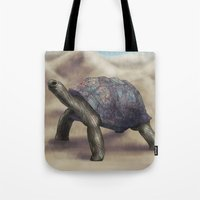 tortoise Tote Bags featuring Tortoise by Ben Geiger