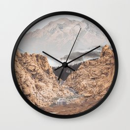 Collage Mountain16 Wall Clock