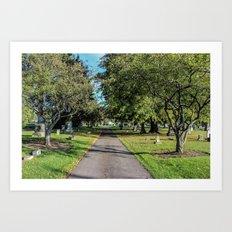 Cemetery Entrance Art Print