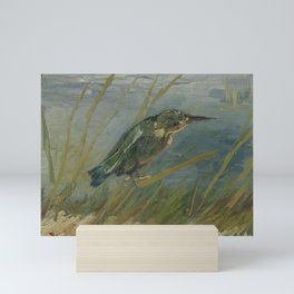 Kingfisher by the Waterside Mini Art Print