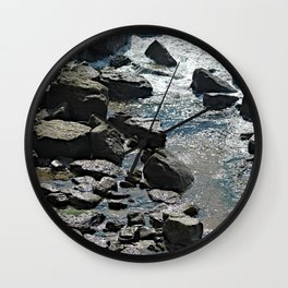 Rocky Coast Landscape Rocks Seashore Wall Clock
