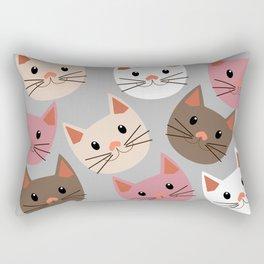 Cute Cat Faces Rectangular Pillow
