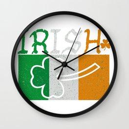 Irish Flag Vintage St Patricks Day Wall Clock