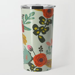 Muted Tone Floral Travel Mug
