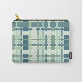 Woven design teal blue and green Carry-All Pouch