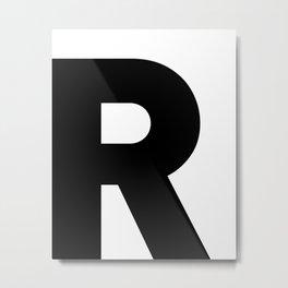 LETTER DESIGN • R • minimalist Metal Print