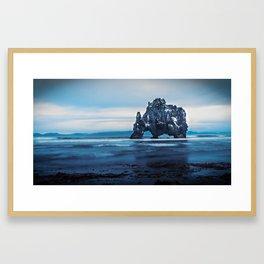 Hvítserkur in Iceland Framed Art Print