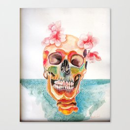 dead but happy Canvas Print
