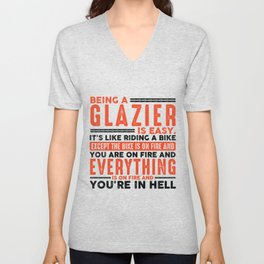 Being a Painter Is Easy Shirt Everything On Fire Unisex V-Neck