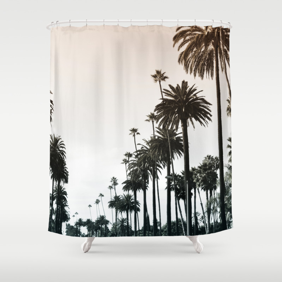 Beach and La Shower Curtains   Society6