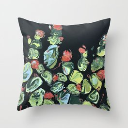 A Light in Dark Places: Nature & Cactus Painting Throw Pillow