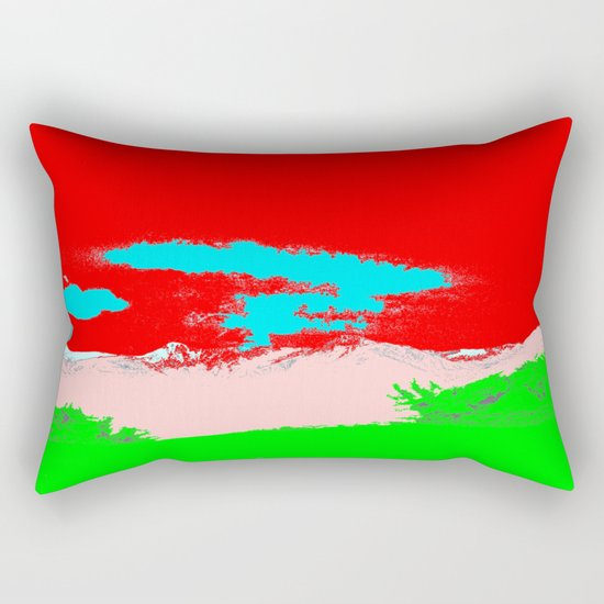 Ice Cream Mountain Rectangular Pillow