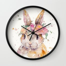 Little Bunny Wall Clock