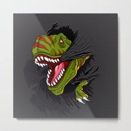Agressive t rex. Metal Print