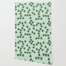 Mint Pineapple Pattern 023 Wallpaper