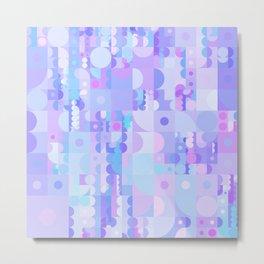 Funky Pastel Shapes Metal Print
