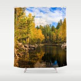 Autumn, Hidden Lake Shower Curtain