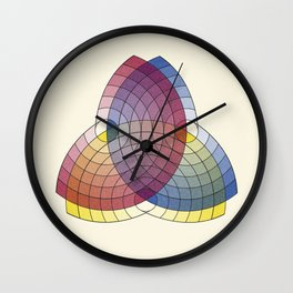 Charles Lacouture's Trilobe synoptique re-make (black outlines) 1890 Wall Clock