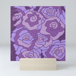 Lavender Dreams Roses - Mixed with Dark Outline Mini Art Print