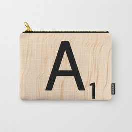 Letter A Scrabble Art Carry-All Pouch