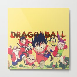 Goku and FRiends 00015 Metal Print