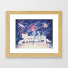Space Edelweiss Framed Art Print