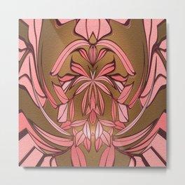 Art Nouveau Floral Glow Metal Print
