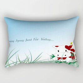 Dreaming away just for today Rectangular Pillow