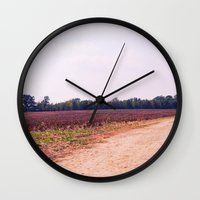 tennessee Wall Clocks featuring TENNESSEE FIELD by Allyson Johnson