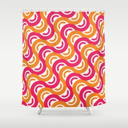 refresh curves and waves geometric pattern Shower Curtain