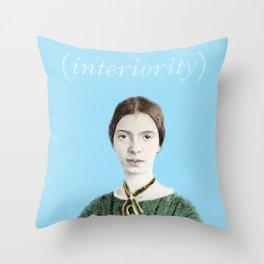 "Emily Dickinson ""Interiority"" Throw Pillow"