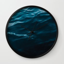 Minimalist blue water surface texture - oceanscape Wall Clock