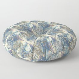 Rococo Rich Pattern design with Gold Relief  Floor Pillow