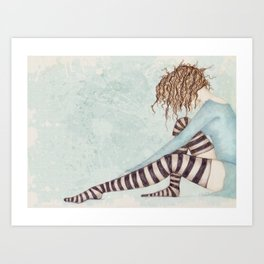Sock Dreams Art Print