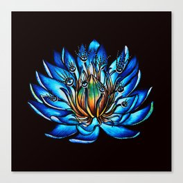 Multi Eyed Blue Water Lily Flower Canvas Print