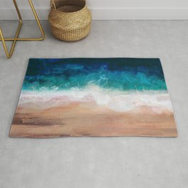Watercolour Summer Beach IV Rug