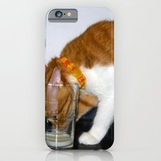 Funny Cat Drinking from Glass Slim Case iPhone 6s