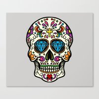 mexican Canvas Prints featuring Mexican Skull by Pancho the Macho