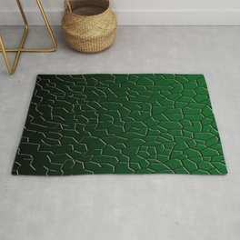 Green Shattered Ground Rug