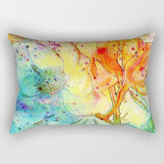 bright floral Rectangular Pillow