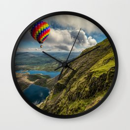 Snowdon Hot Air Balloon Wall Clock