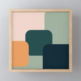 Fall 2019 colors dark tones abstract shapes Framed Mini Art Print