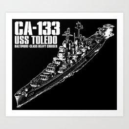 USS Toledo (CA-133) Art Print