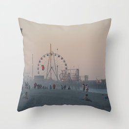 Seaside Sunset Throw Pillow