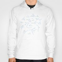 constellation Hoodies featuring Falling star constellation by Picomodi