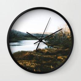 Rainbow Lake Sunrise III Wall Clock